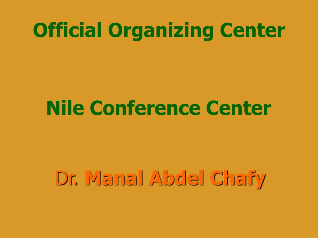 Official Organizing Center