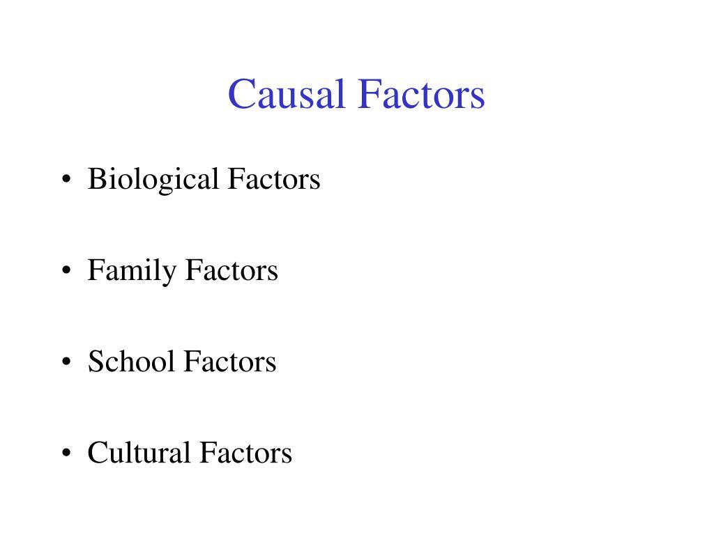 Causal factors of emotional behavioral disorders