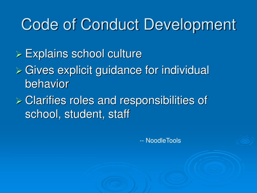 Code of Conduct Development