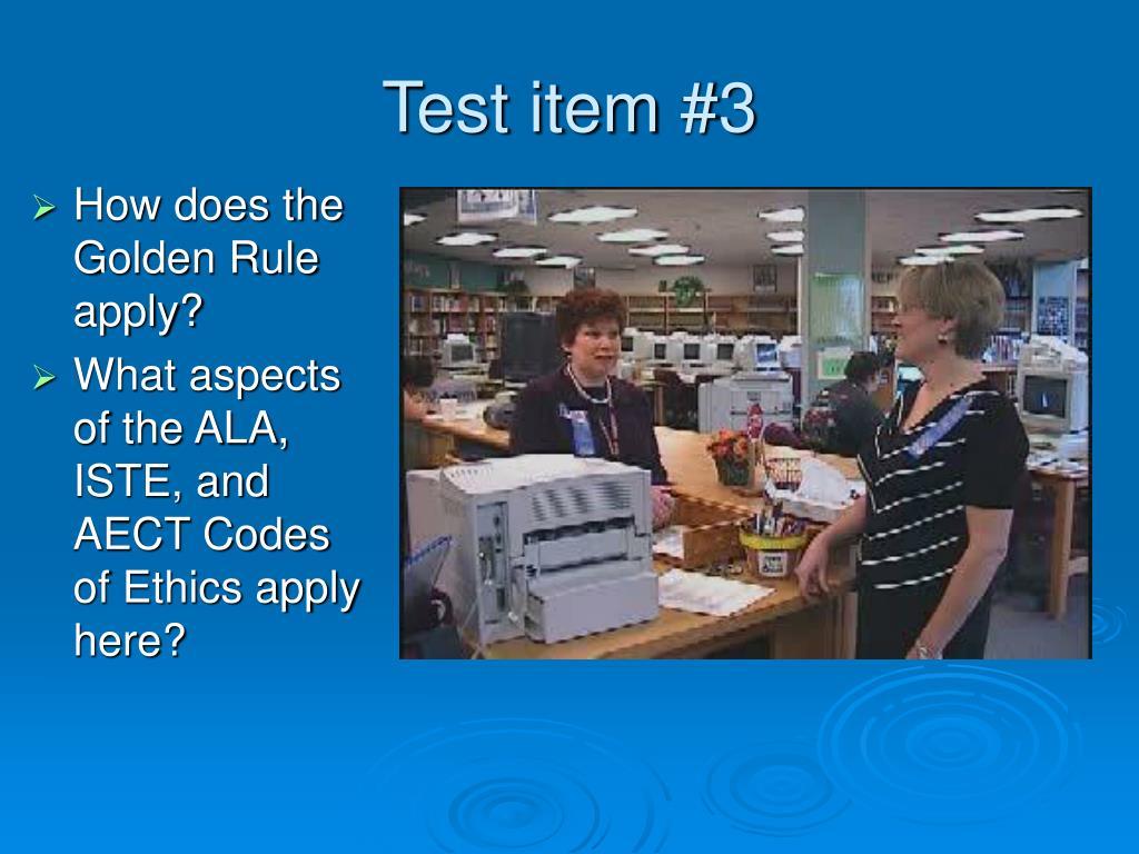 Test item #3