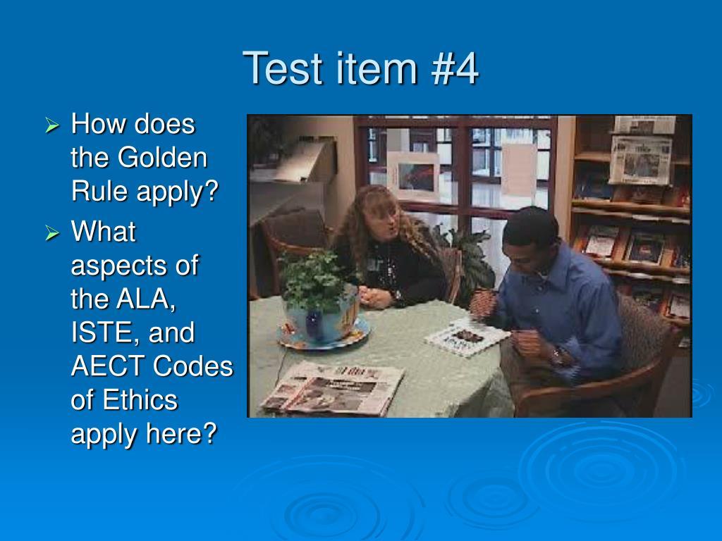 Test item #4