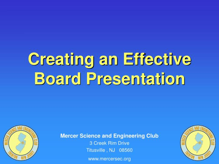 Creating an effective board presentation l.jpg