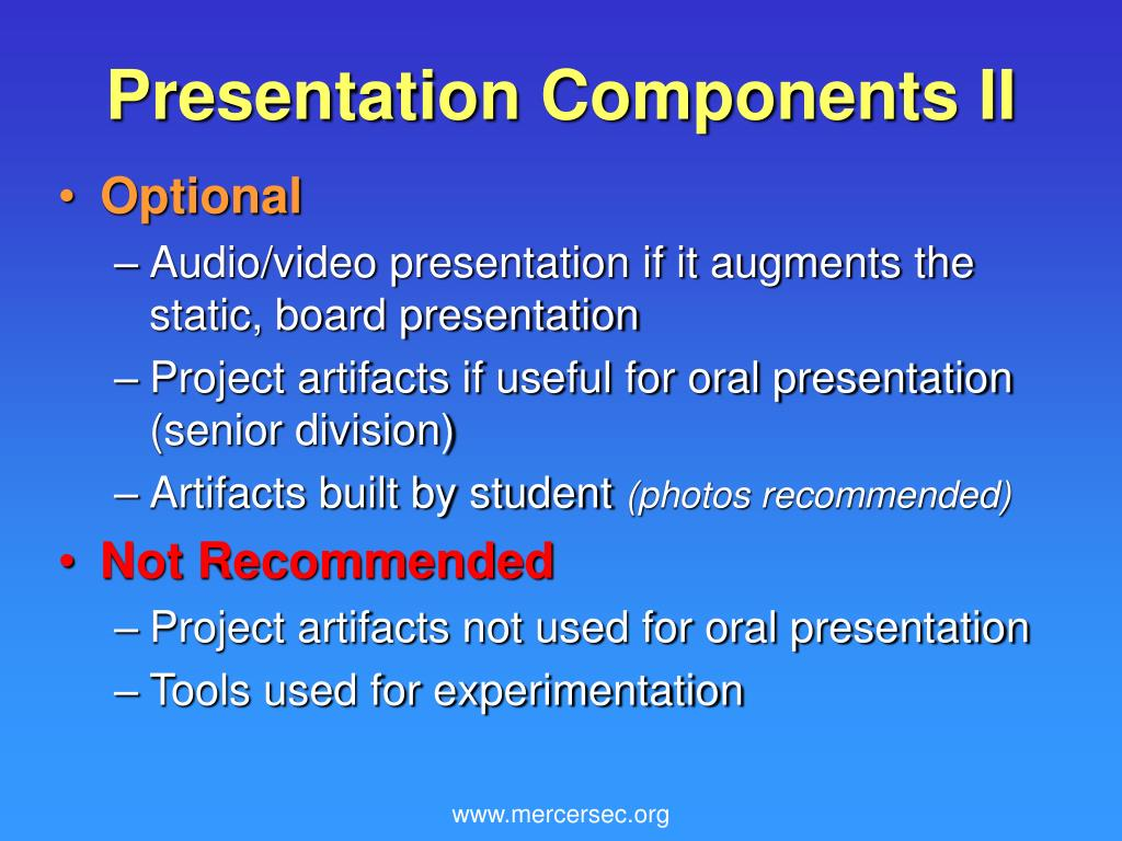 Presentation Components II