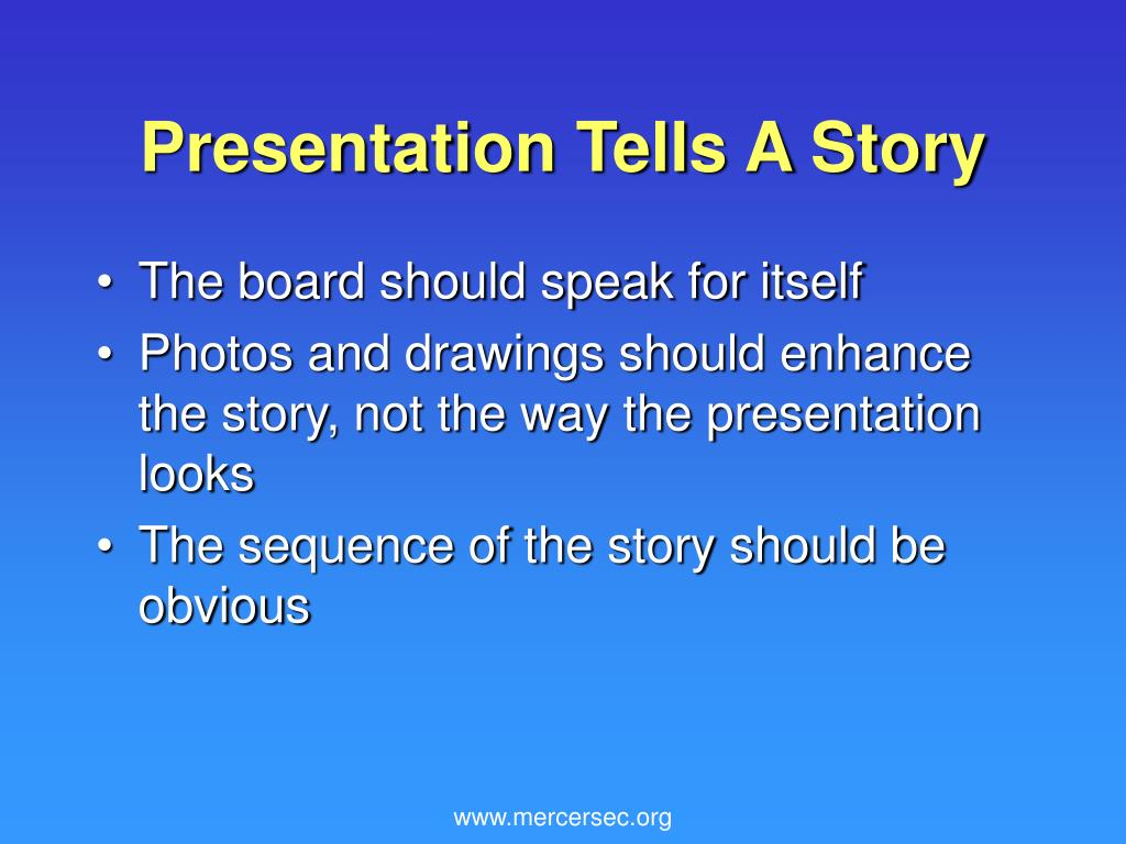 Presentation Tells A Story