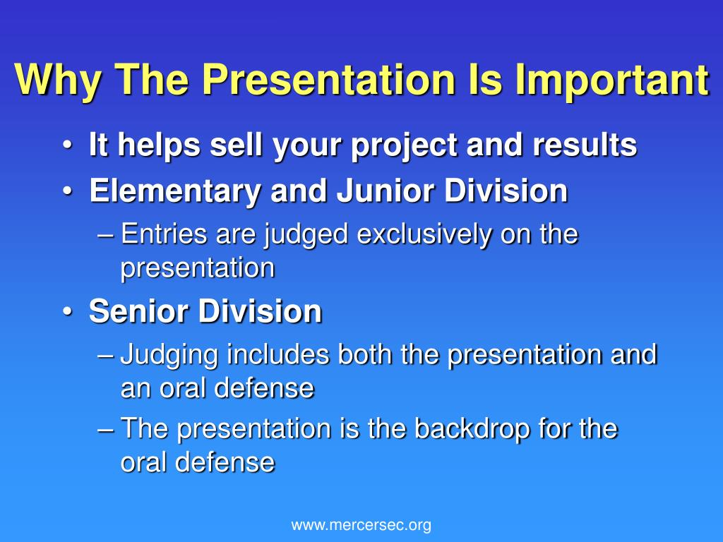 Why The Presentation Is Important