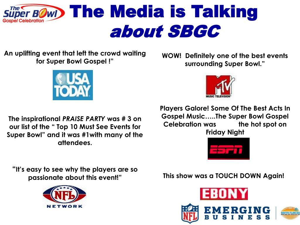 The Media is Talking
