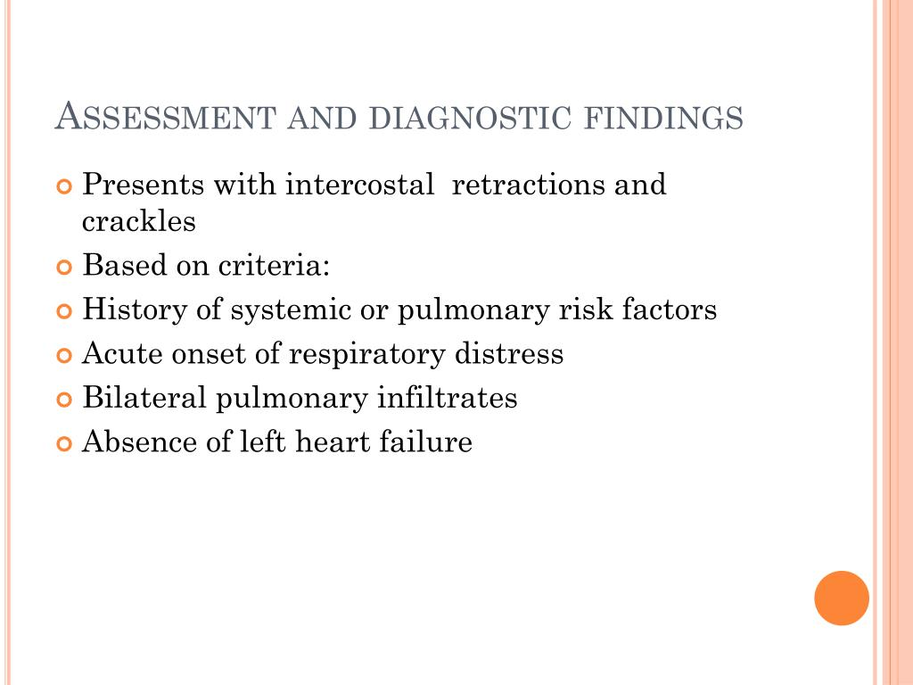 Assessment and diagnostic findings