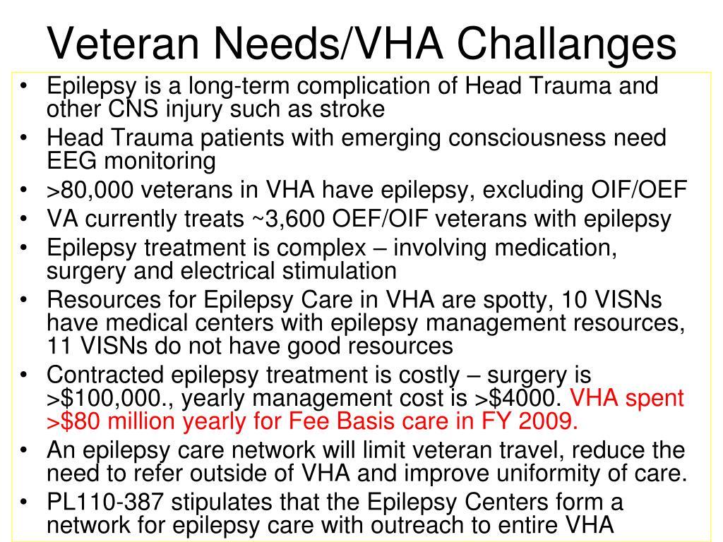 Veteran Needs/VHA Challanges