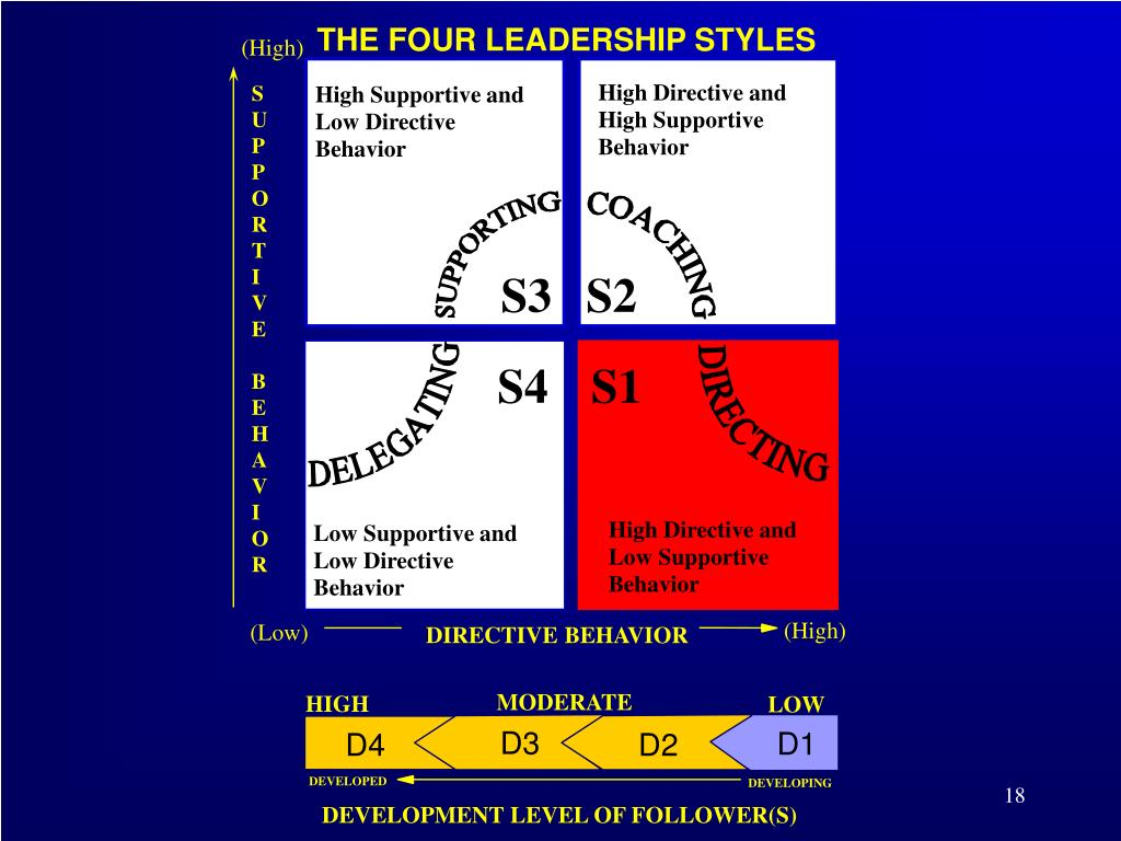 the four leadership styles Quiz: power, influence, and leadership styles everything on leadership leadership the use of power to influence, motivate, and enable others to organizational achievement.