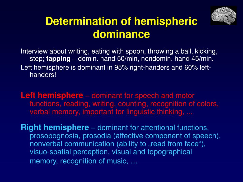 Determination of hemispheric dominance