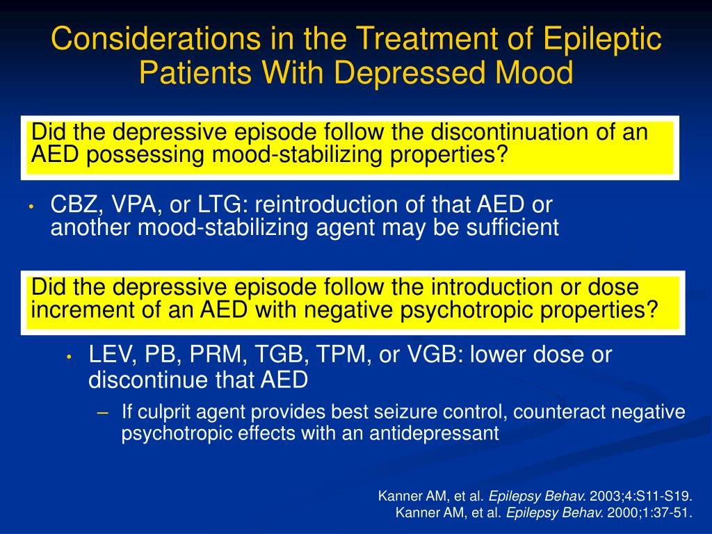 Considerations in the Treatment of Epileptic Patients With Depressed Mood