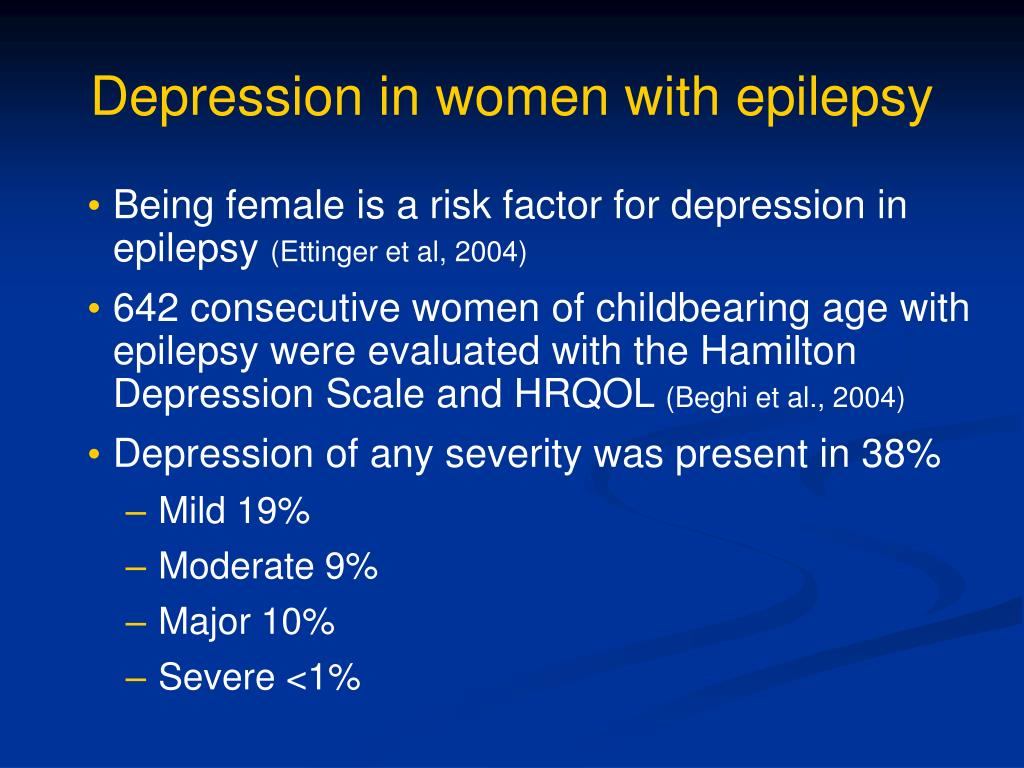 Depression in women with epilepsy