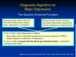 diagnostic algorithm for major depression