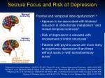 seizure focus and risk of depression