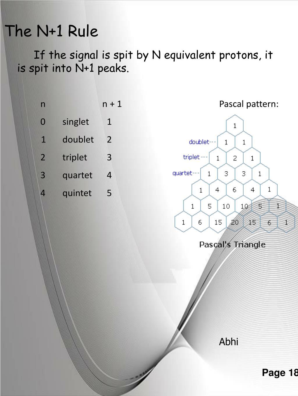 n n + 1  Pascal pattern: