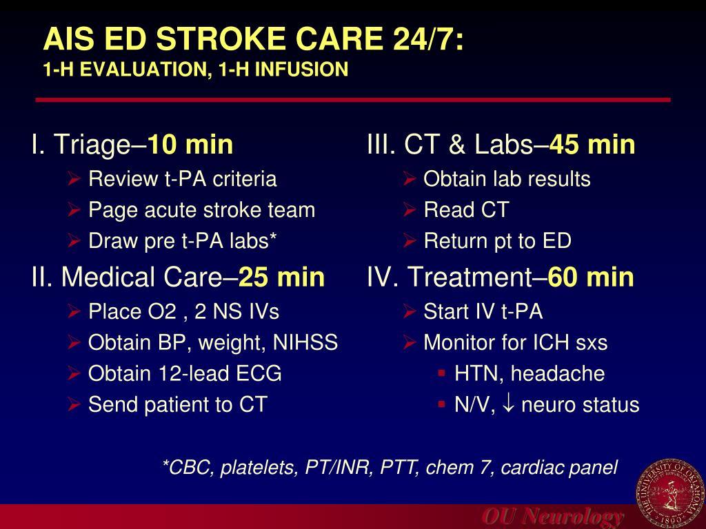 AIS ED STROKE CARE 24/7: