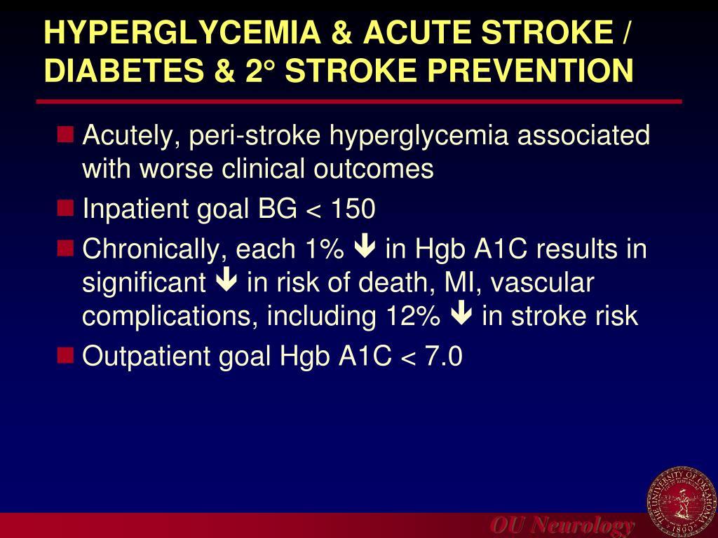 HYPERGLYCEMIA & ACUTE STROKE /