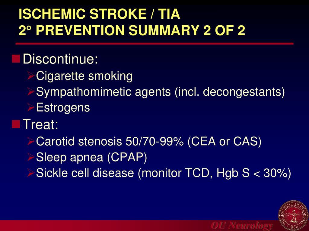 ISCHEMIC STROKE / TIA