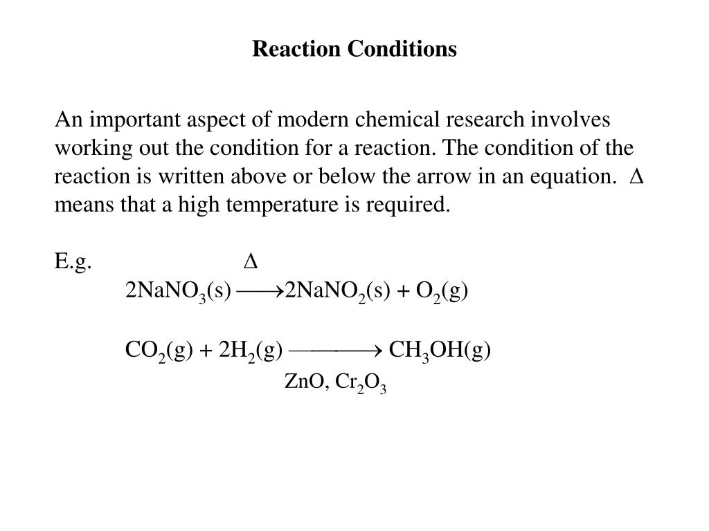 Reaction Conditions