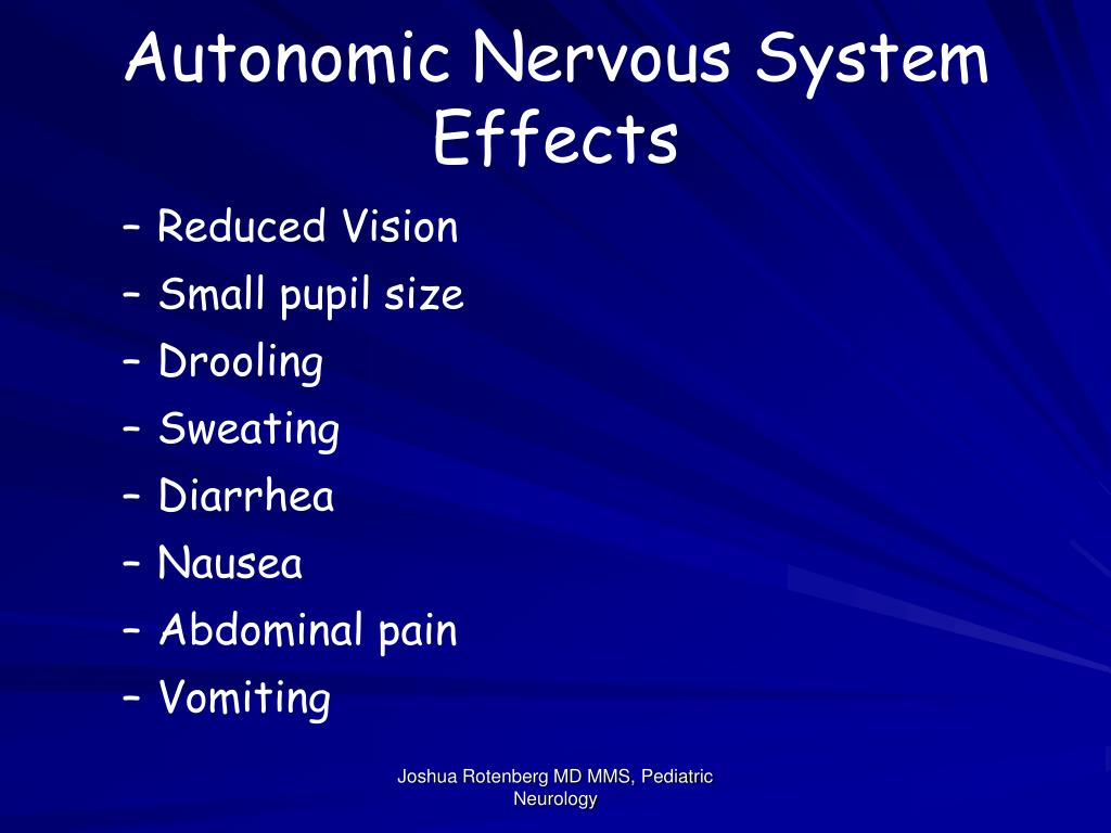 Autonomic Nervous System Effects