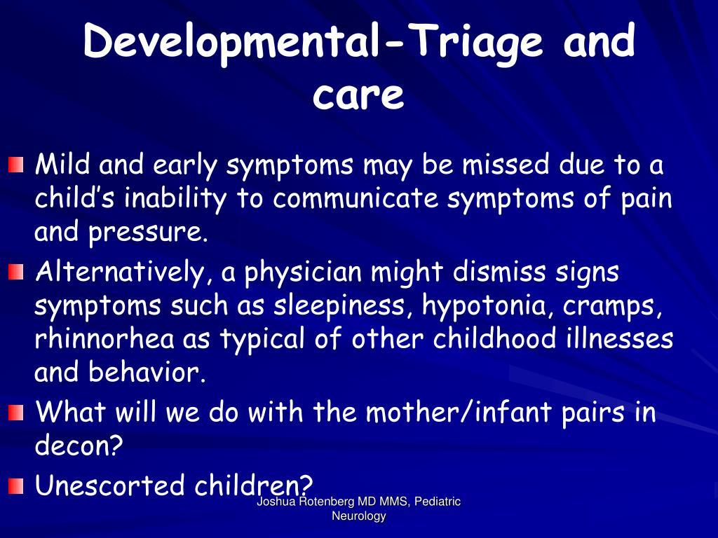 Developmental-Triage and care