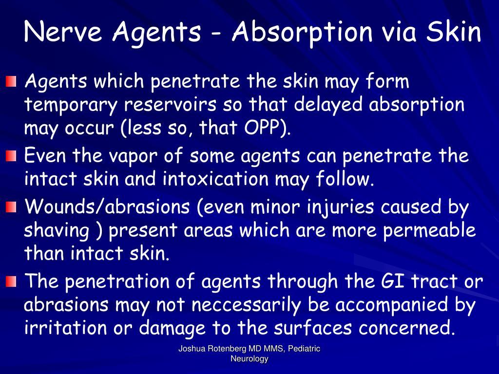 Nerve Agents - Absorption via Skin