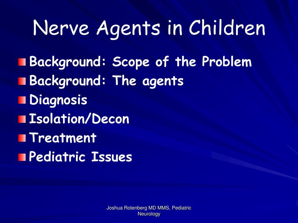 Nerve Agents in Children