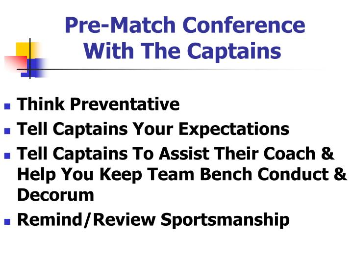 Pre-Match Conference