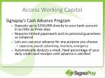 access working capital