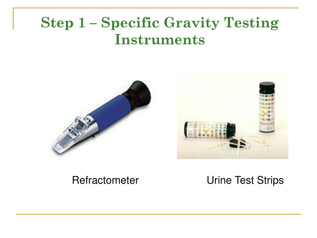 Step 1 – Specific Gravity Testing Instruments