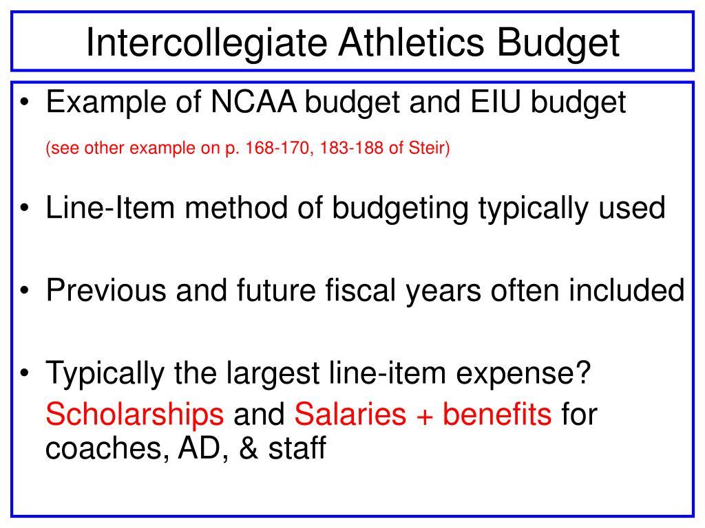 Intercollegiate Athletics Budget