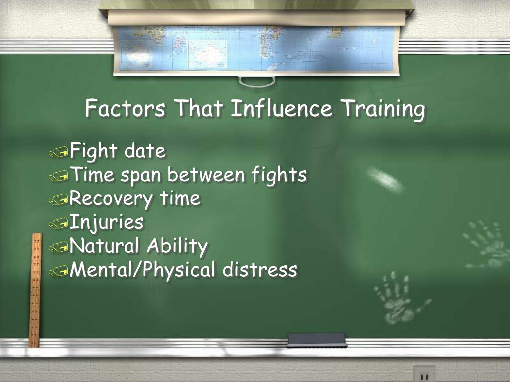 Factors That Influence Training