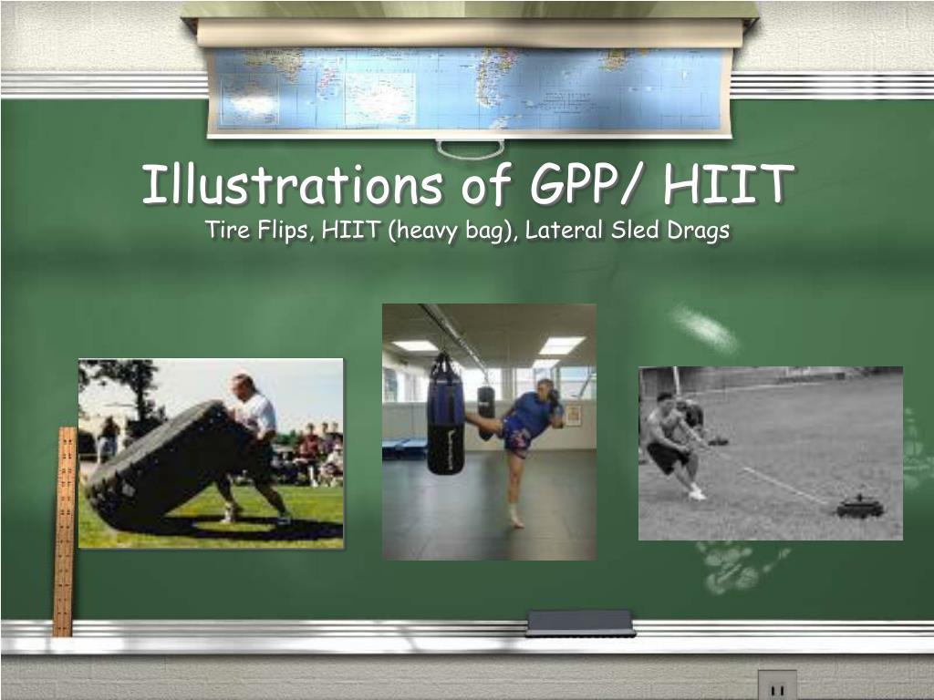 Illustrations of GPP/ HIIT