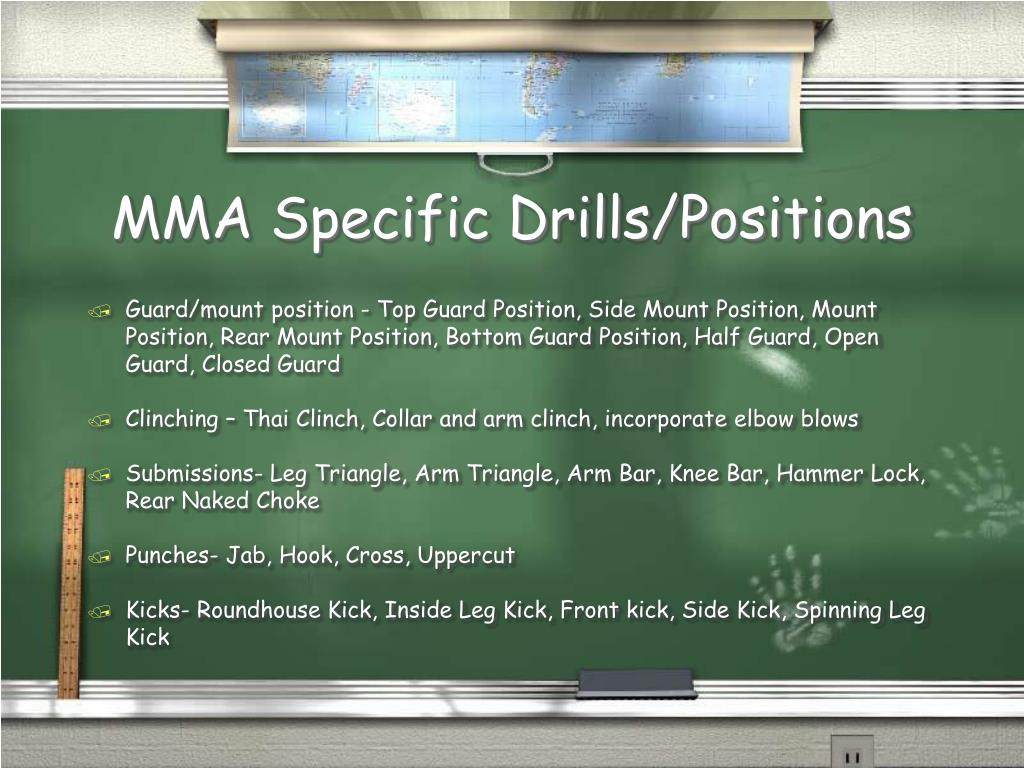 MMA Specific Drills/Positions