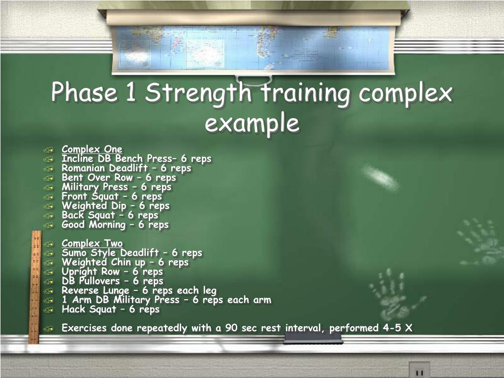Phase 1 Strength training complex example