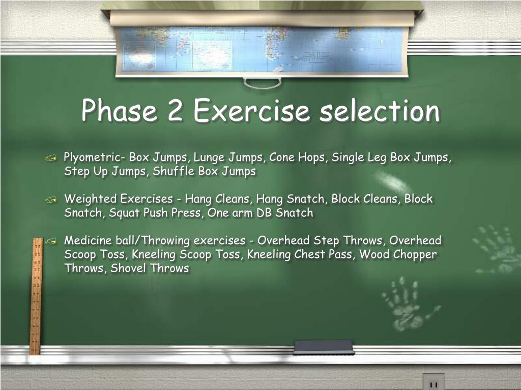 Phase 2 Exercise selection