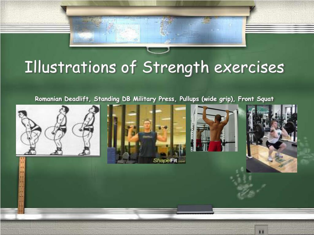 Illustrations of Strength exercises
