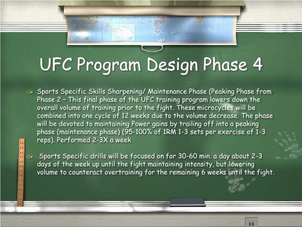 UFC Program Design Phase 4
