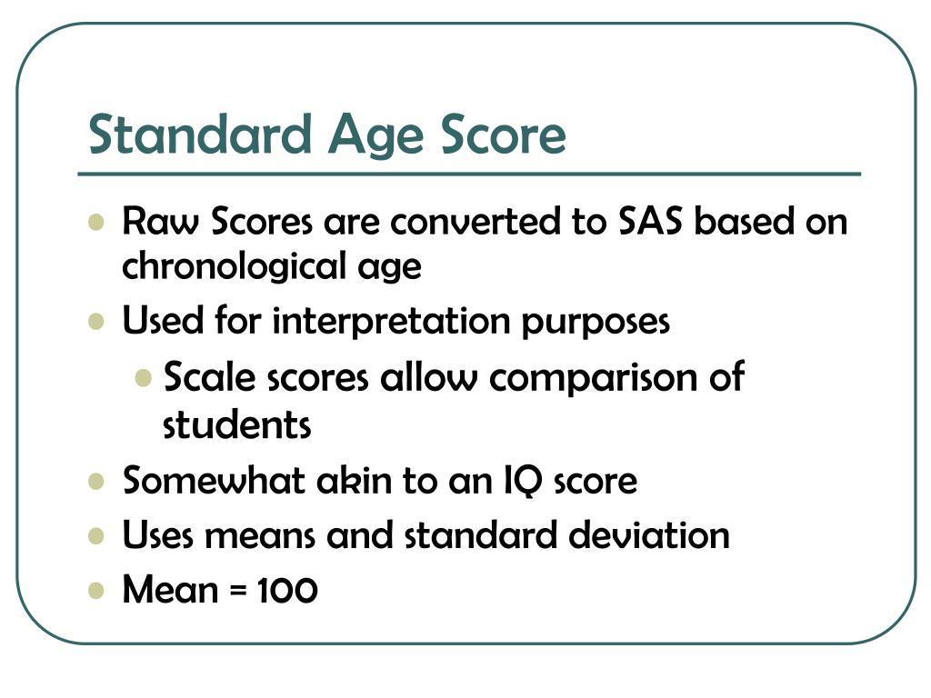 Standard Age Score