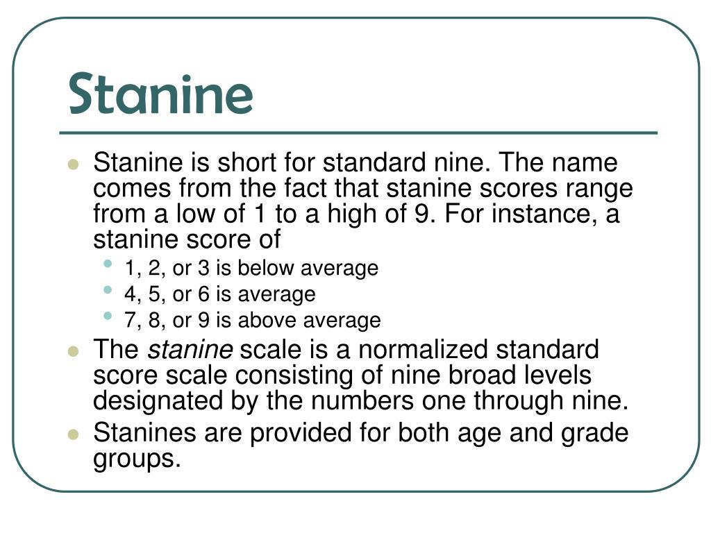 Stanine