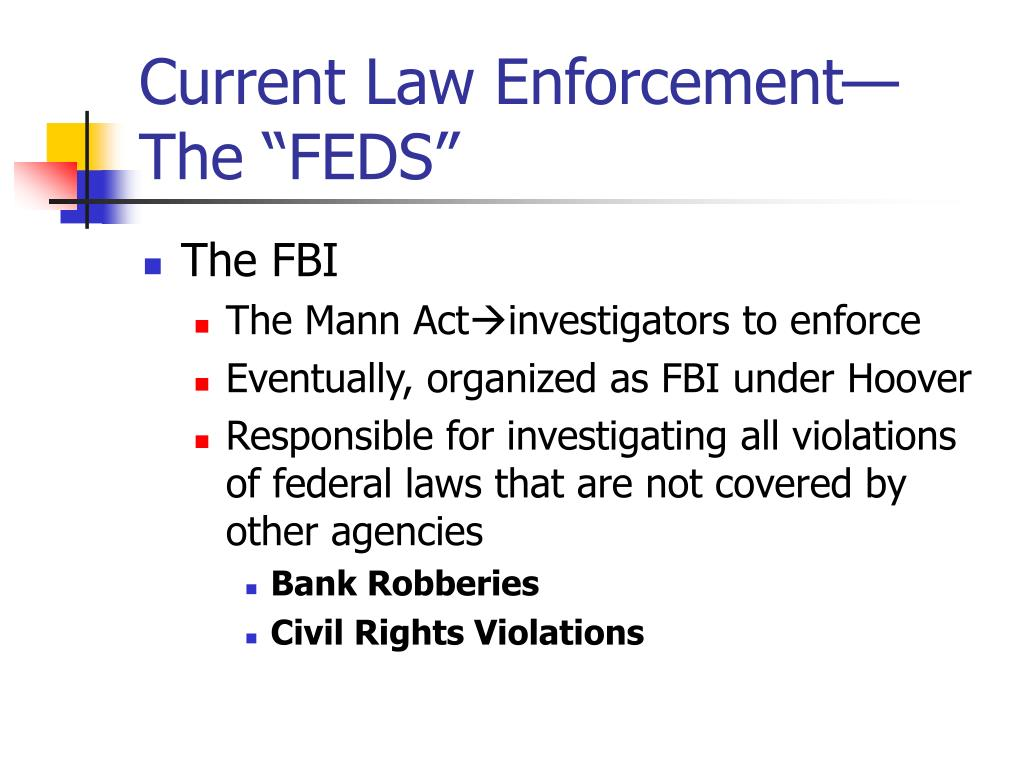 "Current Law Enforcement—The ""FEDS"""