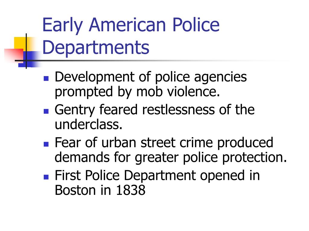 Early American Police Departments
