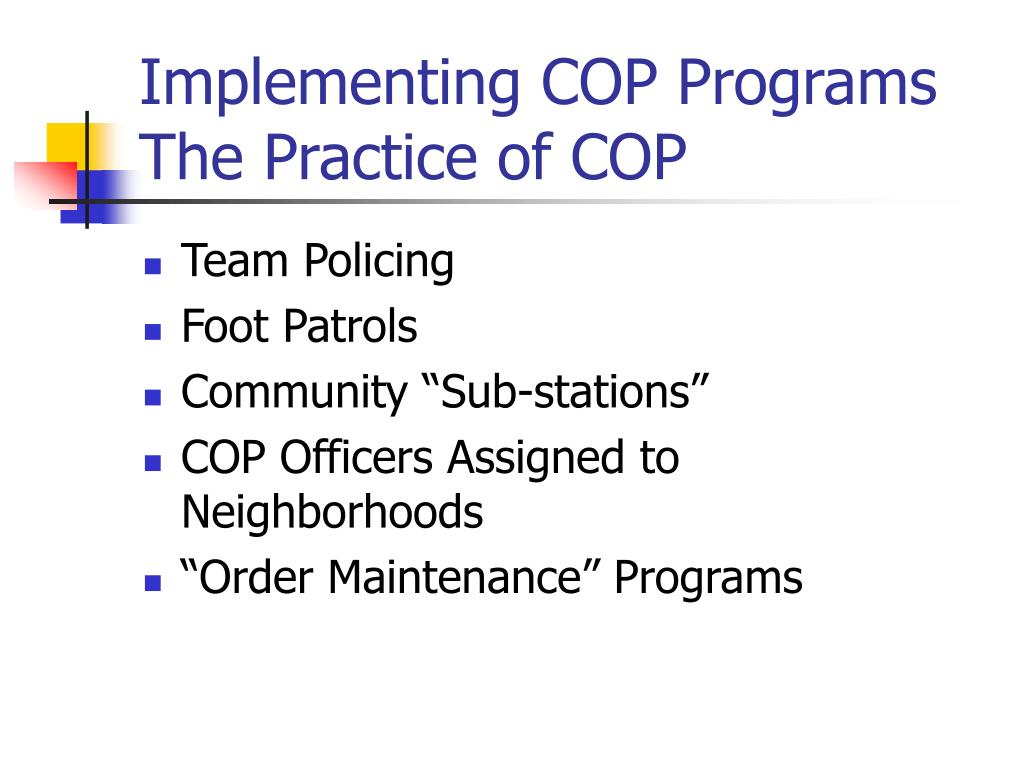 Implementing COP Programs
