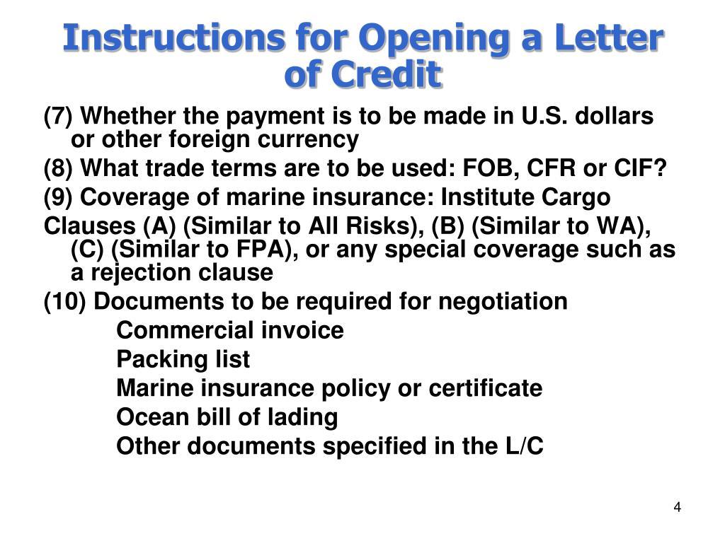 ocean bill of lading instructions