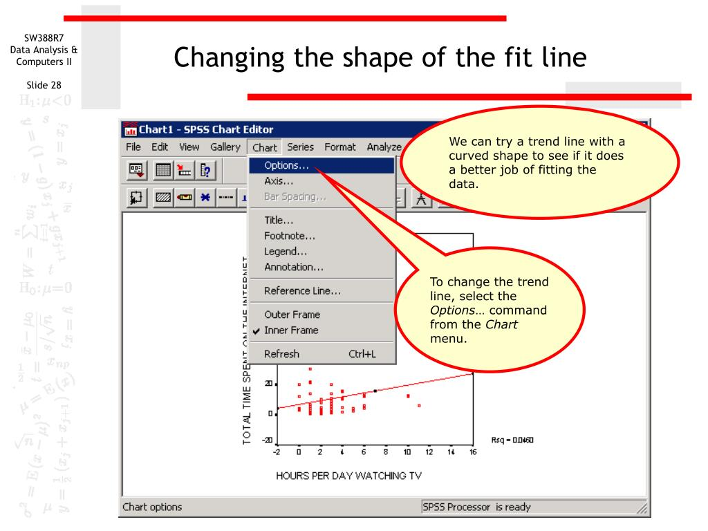 Changing the shape of the fit line