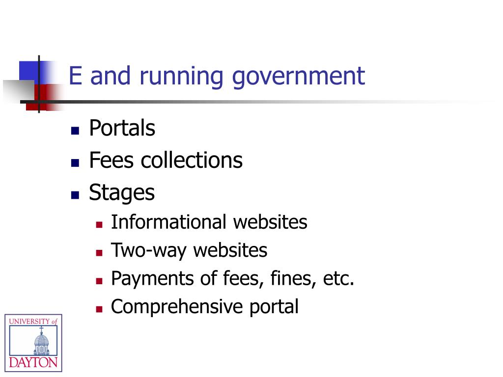 E and running government