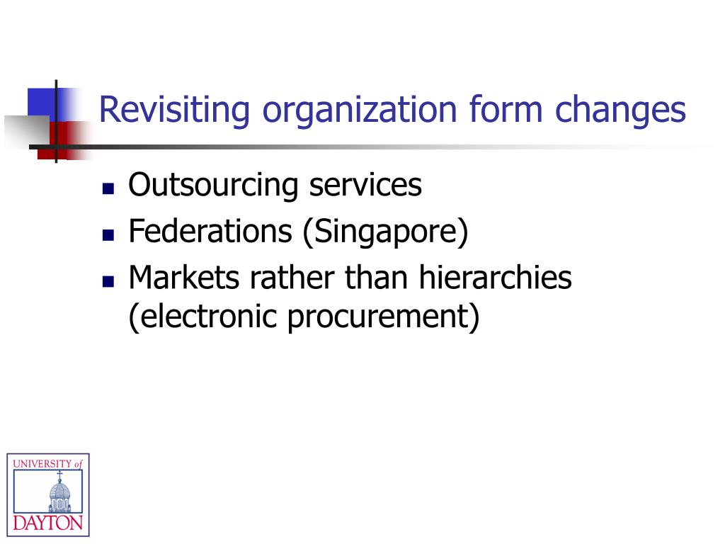 Revisiting organization form changes