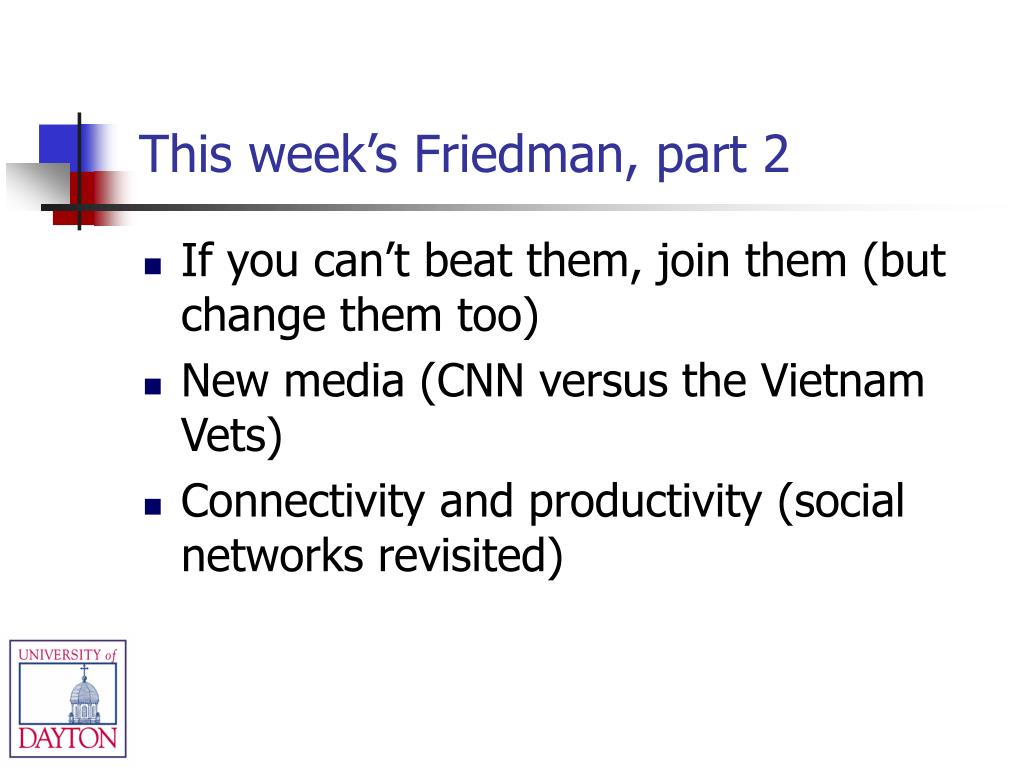 This week's Friedman, part 2