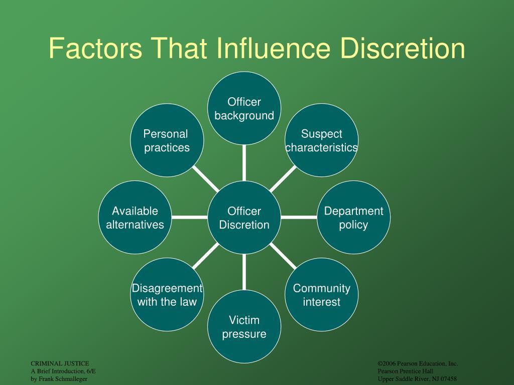 Factors That Influence Discretion