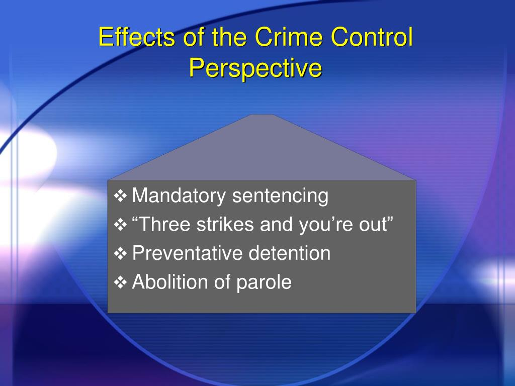 Effects of the Crime Control Perspective